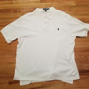 Men's White Polo by Ralph Lauren Shirt